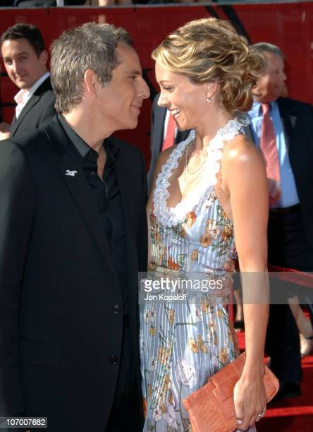 Ben Stiller and Christine Taylor during 2006 ESPY Awards Arrivals at Kodak Theatre in Hollywood CA United States