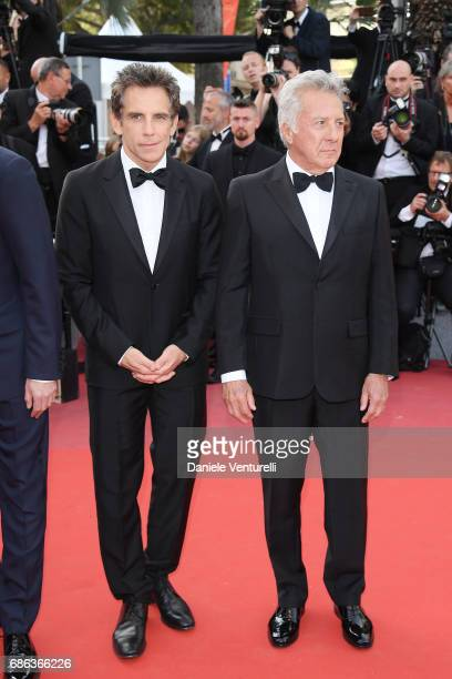 Ben Stiller and Dustin Hoffman attend 'The Meyerowitz Stories' premiere during the 70th annual Cannes Film Festival at Palais des Festivals on May 21...