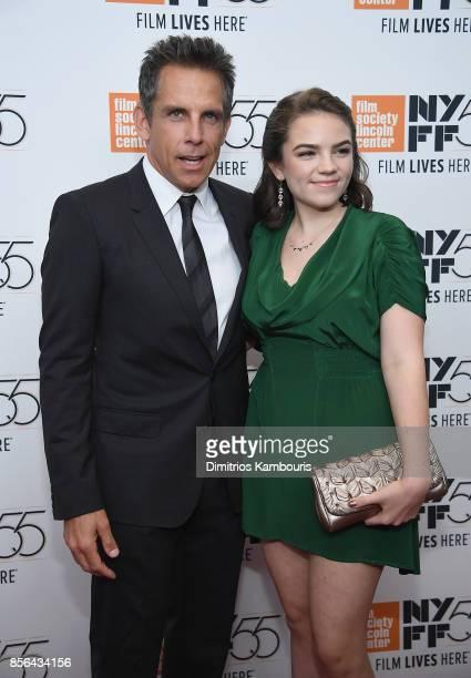Ben Stiller and Ella Olivia Stiller attend The 55th New York Film Festival 'Meyerowitz' at Alice Tully Hall on October 1 2017 in New York City
