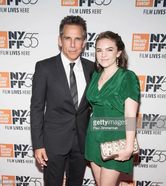 Ben Stiller and Ella Olivia Stiller attend the 55th New York Film Festival 'Meyerowitz Stories' at Alice Tully Hall on October 1 2017 in New York City