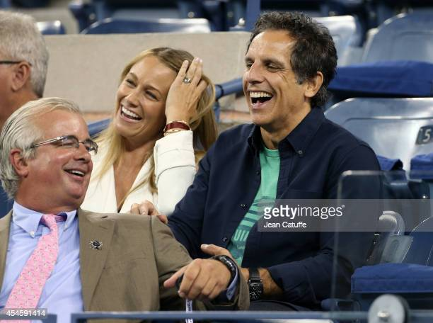 Ben Stiller and his wife Christine Taylor attend Day 10 of the 2014 US Open at USTA Billie Jean King National Tennis Center on September 3 2014 in...
