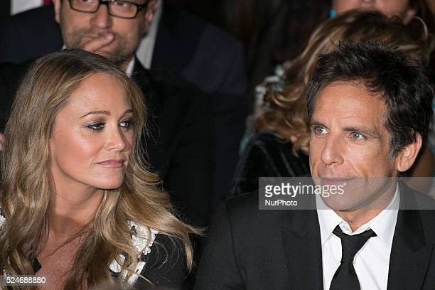 Ben Stiller and his wife Christine Taylor attends the 60th Taormina Film Fest on June 19 2014 in Taormina Italy