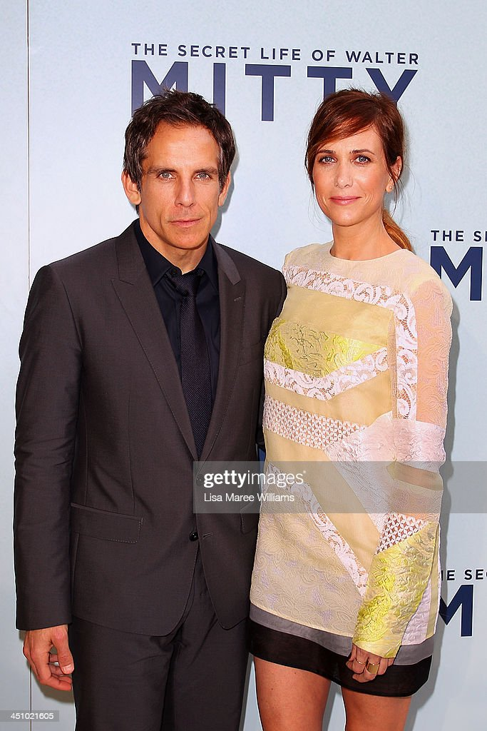 Ben Stiller and Kristen Wiig arrive at the Australian Premiere of The Secret Life of Walter Mitty at Sydney Entertainment Centre on November 21, 2013 in Sydney, Australia.