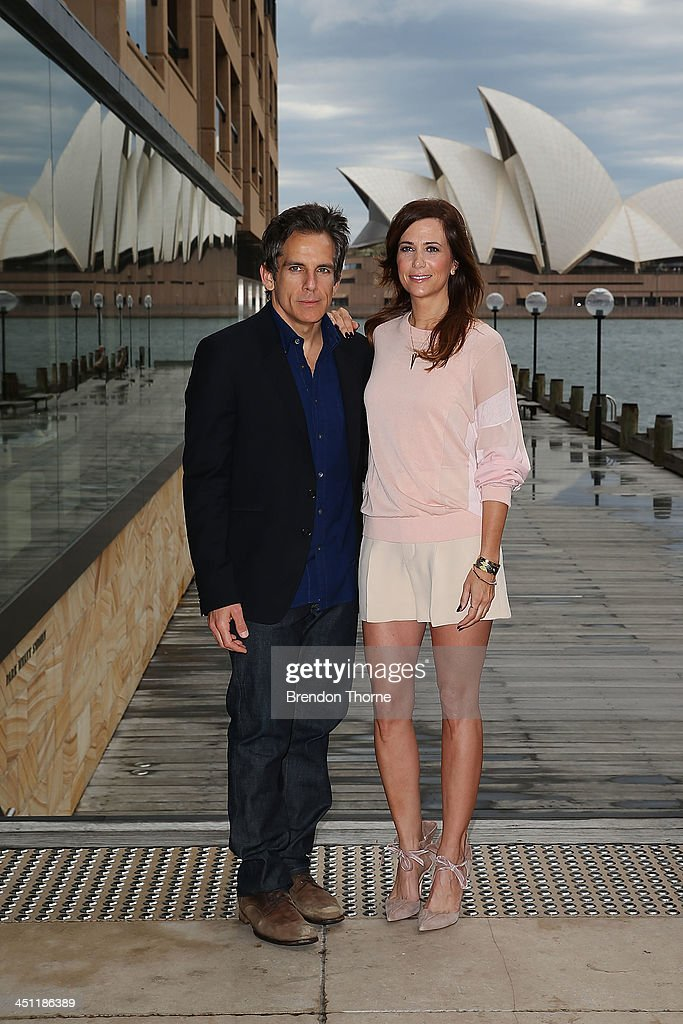 Ben Stiller and Kristen Wiig pose during 'The Secret Life of Walter Mitty' photo call at the Park Hyatt on November 22, 2013 in Sydney, Australia.