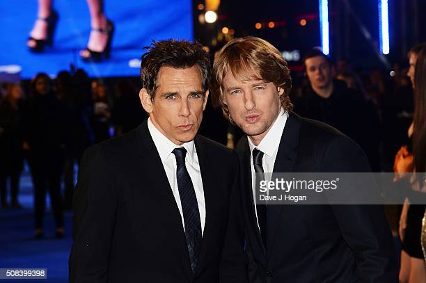 Ben Stiller and Owen Wilson attend a Fashionable Screening of the Paramount Pictures film 'Zoolander No 2' at Empire Leicester Square on February 4...