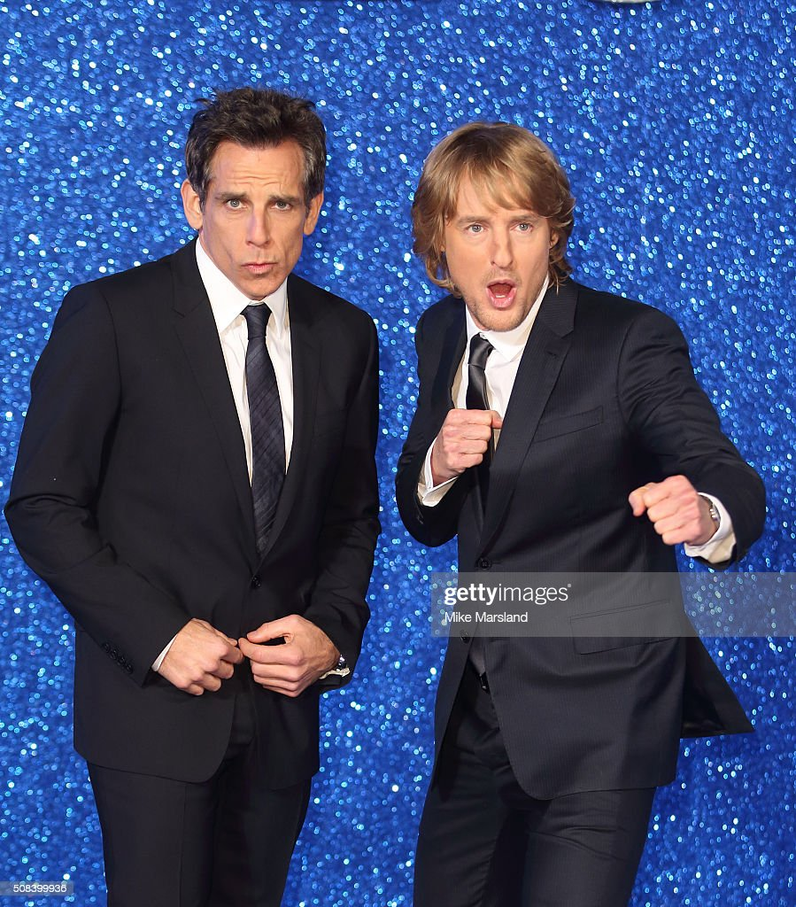 Ben Stiller and Owen Wilson attend a London Fan Screening of the Paramount Pictures film 'Zoolander No. 2' at Empire Leicester Square on February 4, 2016 in London, England.