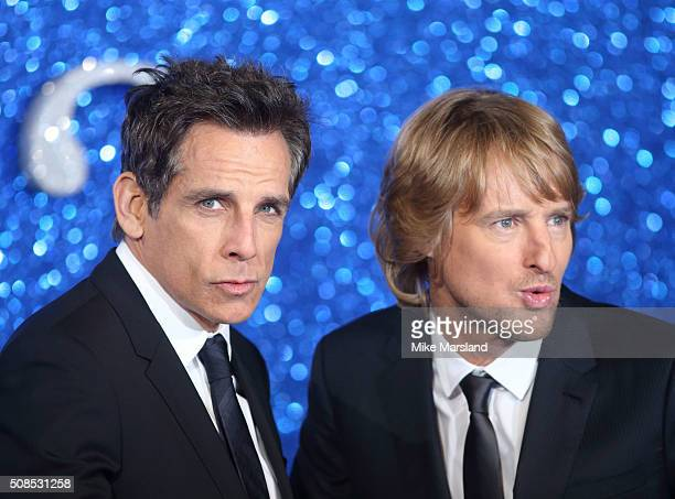 Ben Stiller and Owen Wilson attend a London Fan Screening of the Paramount Pictures film 'Zoolander No 2' at Empire Leicester Square on February 4...