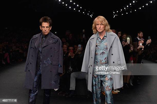 Ben Stiller and Owen Wilson walk the runway during the Valentino show as part of the Paris Fashion Week Womenswear Fall/Winter 2015/2016 on March 10...