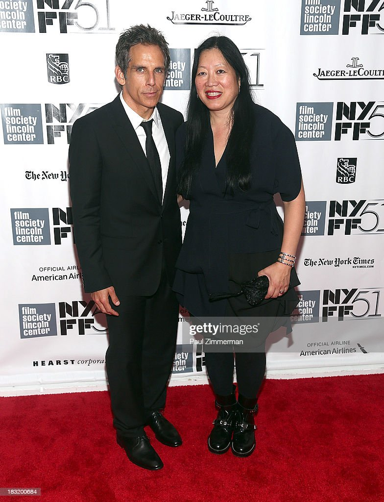 <a gi-track='captionPersonalityLinkClicked' href=/galleries/search?phrase=Ben+Stiller&family=editorial&specificpeople=201806 ng-click='$event.stopPropagation()'>Ben Stiller</a> (L) and Rose Kuo attend the Centerpiece Gala Presentation Of 'The Secret Life Of Walter Mitty' premiere during the 51st New York Film Festival at Alice Tully Hall at Lincoln Center on October 5, 2013 in New York City.