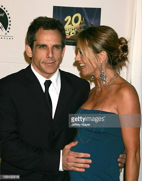Ben Stiller and wife Christine Taylor during 5th Annual Project ALS Benefit Gala Honoring Ben Stiller Arrivals at Westin Century Plaza Hotel in...