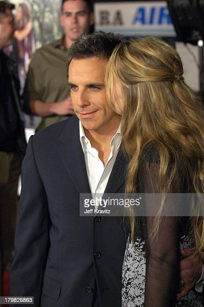 Ben Stiller and wife Christine Taylor during Along Came Polly Los Angeles Premiere at Mann's Chinese Theater in Hollywood California United States