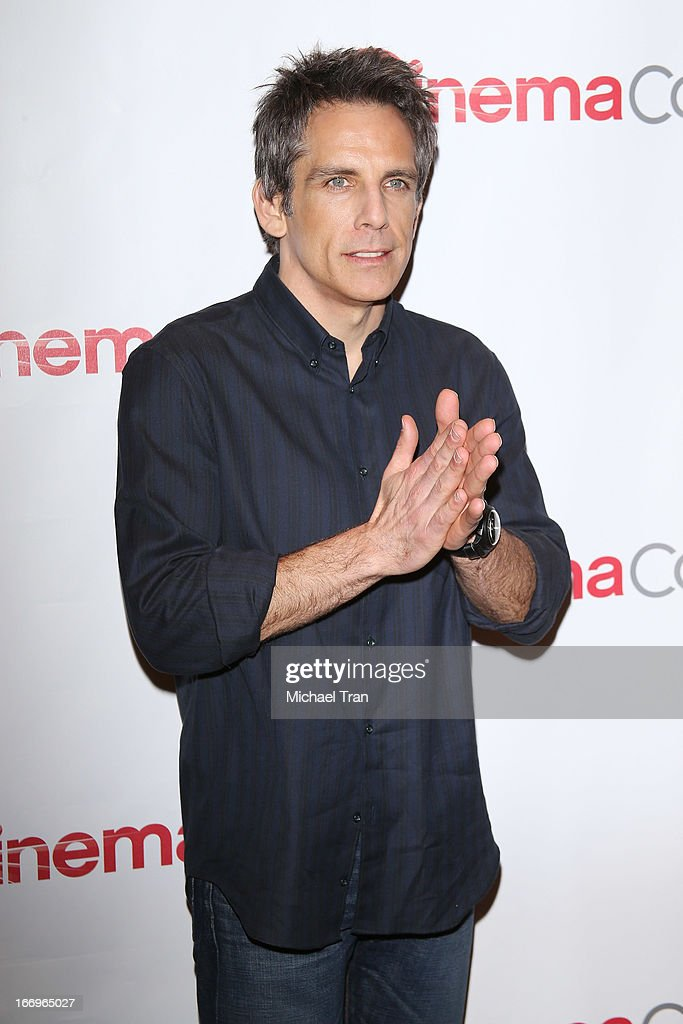 <a gi-track='captionPersonalityLinkClicked' href=/galleries/search?phrase=Ben+Stiller&family=editorial&specificpeople=201806 ng-click='$event.stopPropagation()'>Ben Stiller</a> arrives at a Twentieth Century Fox presentation to promote the upcoming film 'The Secret Life of Walter Mitty' at Caesars Palace during CinemaCon, the official convention of the National Association of Theatre Owners on April 18, 2013 in Las Vegas, Nevada.