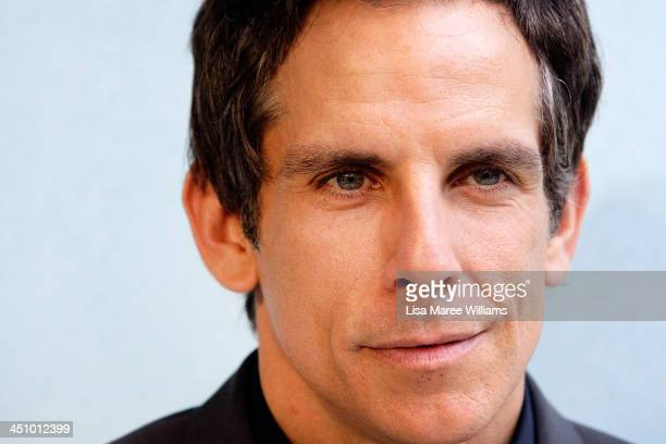 Ben Stiller arrives at the Australian Premiere of The Secret Life of Walter Mitty at Sydney Entertainment Centre on November 21 2013 in Sydney...