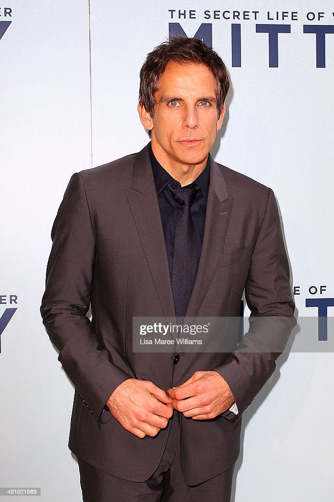 <a gi-track='captionPersonalityLinkClicked' href=/galleries/search?phrase=Ben+Stiller&family=editorial&specificpeople=201806 ng-click='$event.stopPropagation()'>Ben Stiller</a> arrives at the Australian Premiere of The Secret Life of Walter Mitty at Sydney Entertainment Centre on November 21, 2013 in Sydney, Australia.