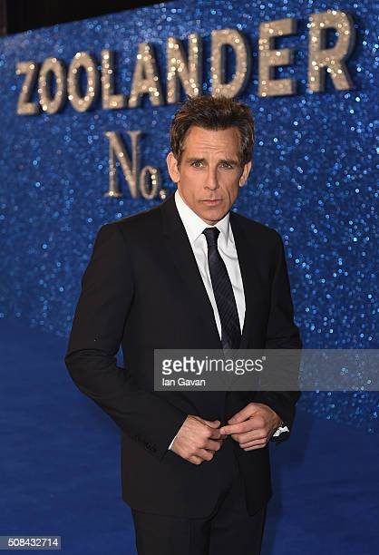 Ben Stiller attends a London Fan Screening of the Paramount Pictures film 'Zoolander No 2' at the Empire Leicester Square on February 4 2016 in...