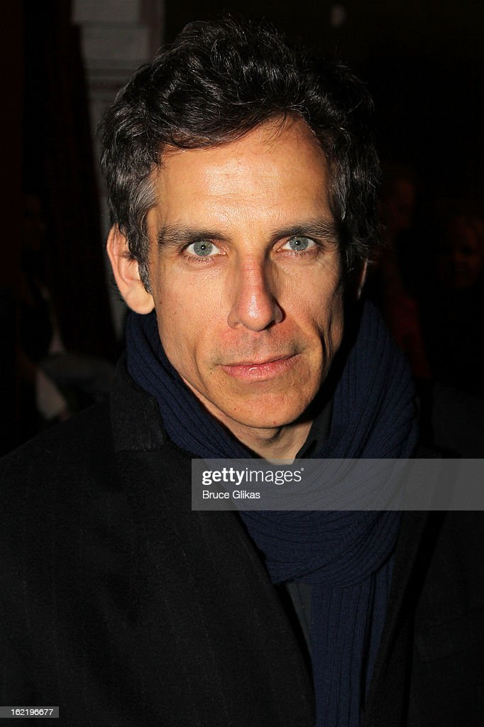 Ben Stiller attends 'Really Really' on Opening Night at the Lucille Lortel Theatre on February 19 2013 in New York United States