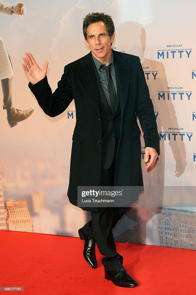 <a gi-track='captionPersonalityLinkClicked' href=/galleries/search?phrase=Ben+Stiller&family=editorial&specificpeople=201806 ng-click='$event.stopPropagation()'>Ben Stiller</a> attends the German premiere of the film 'The Secret Life Of Walter Mitty' (Das erstaunliche Leben des Walter Mitty) at Zoo Palast on December 11, 2013 in Berlin, Germany.