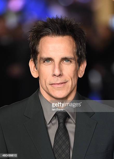 Ben Stiller attends the UK Premiere of 'Night At The Museum Secret Of The Tomb' at Empire Leicester Square on December 15 2014 in London England