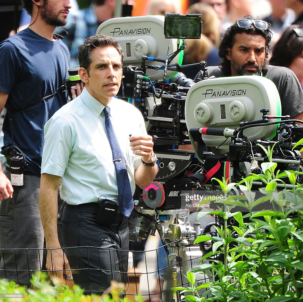 Ben Stiller is seen in the set of 'the secret life of Walter Mitty' on May 16, 2013 in New York City.