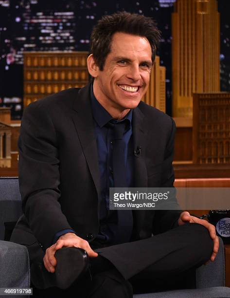 Ben Stiller Visits 'The Tonight Show Starring Jimmy Fallon' at Rockefeller Center on March 19 2015 in New York City