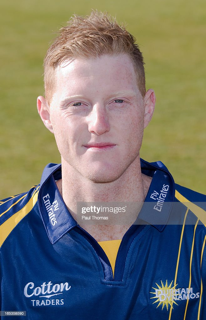 Ben Stokes of Durham CCC wears the Yorkshire Bank 40 kit during a pre-season photocall at The Riverside on April 3, 2013 in Chester-le-Street, England.