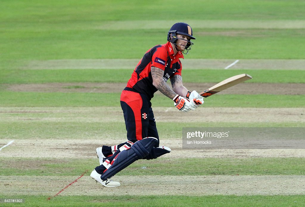 Ben Stokes of Durham during The NatWest T20 Blast game between Durham Jets and Yorkshire Vikings at Emirates Durham ICG on June 24, 2016 in Chester-le-Street, England.