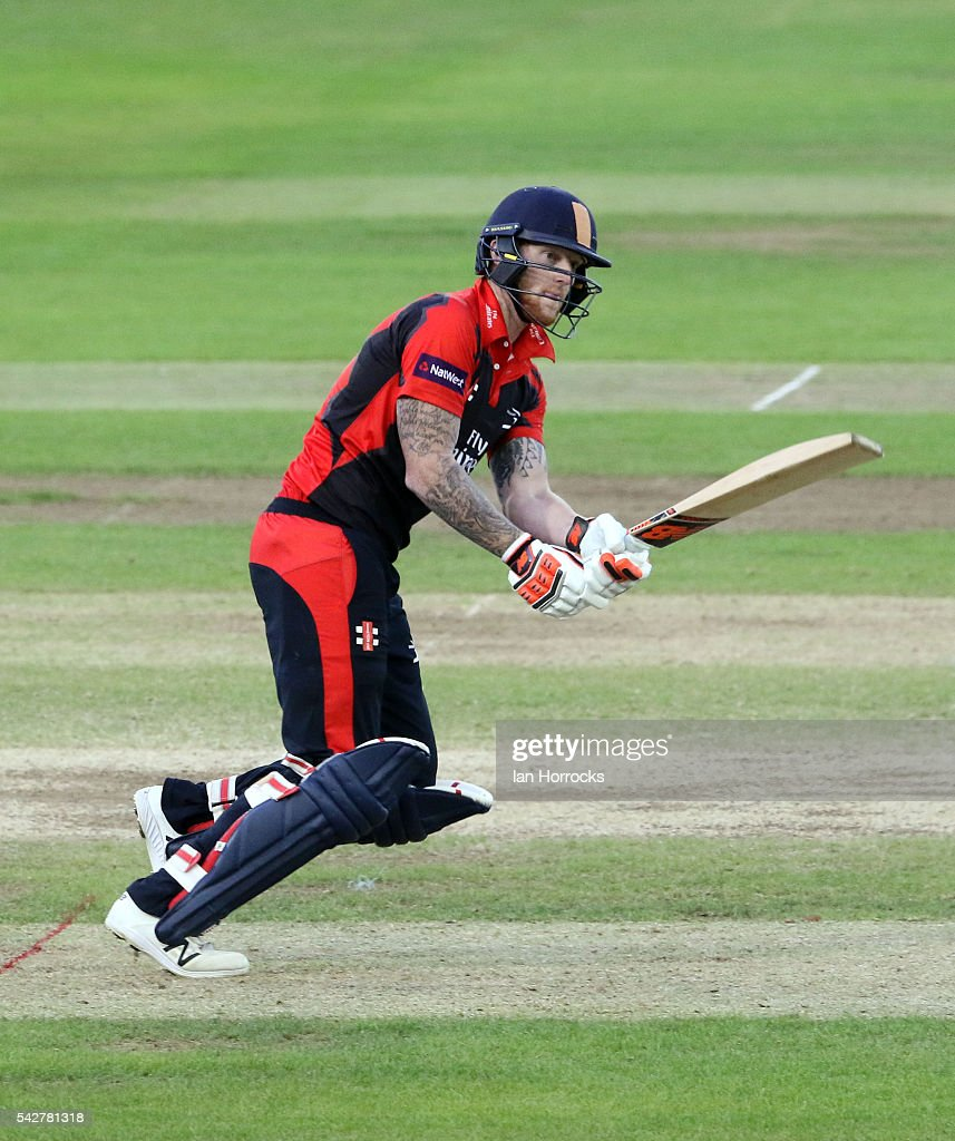 Ben Stokes of Durham during The NatWest T20 Blast game between Durham Jets and Yorkshire Vikings at Emirates Durham ICG on June 24 2016 in...