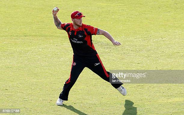 Ben Stokes of Durham during the NatWest T20 Blast game between Durham Jets and Northamptonshire Steelbacks at Emirates Durham ICG on July 15 2016 in...