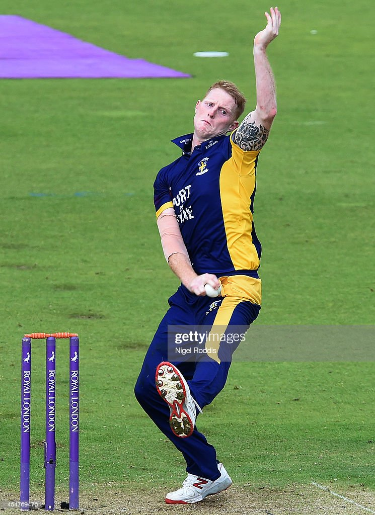 Ben Stokes of Durham in action during the Royal London One Day Cup 2014 Semi Final between Durham and Nottinghamshire Outlaws at The Riverside on...