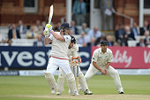 Ben Stokes of England bats during day four of 1st Investec Test match between England and New Zealand at Lord's Cricket Ground on May 24 2015 in...