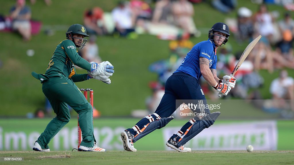 <a gi-track='captionPersonalityLinkClicked' href=/galleries/search?phrase=Ben+Stokes&family=editorial&specificpeople=6688979 ng-click='$event.stopPropagation()'>Ben Stokes</a> of England bats during the 3rd Momentum ODI match between South Africa and England at Supersport Park on February 9, 2016 in Centurion, South Africa.