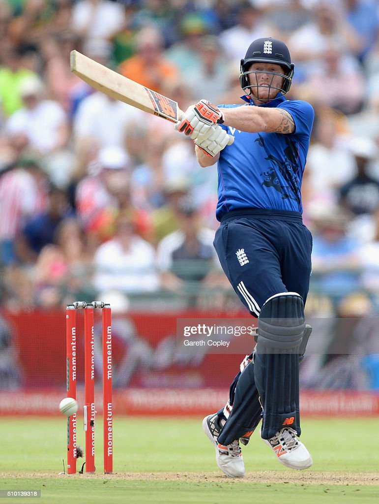 <a gi-track='captionPersonalityLinkClicked' href=/galleries/search?phrase=Ben+Stokes&family=editorial&specificpeople=6688979 ng-click='$event.stopPropagation()'>Ben Stokes</a> of England bats during the 5th Momentum ODI match between South Africa and England at Newlands Stadium on February 14, 2016 in Cape Town, South Africa.