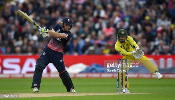 Ben Stokes of England bats during the ICC Champions Trophy match between England and Australia at Edgbaston on June 10 2017 in Birmingham England