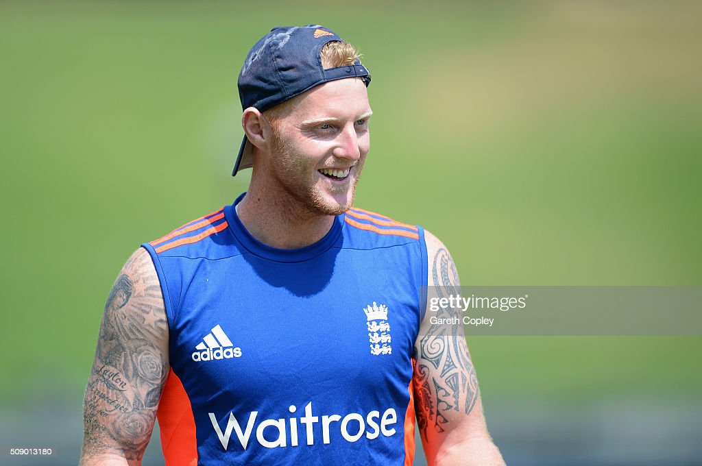 <a gi-track='captionPersonalityLinkClicked' href=/galleries/search?phrase=Ben+Stokes&family=editorial&specificpeople=6688979 ng-click='$event.stopPropagation()'>Ben Stokes</a> of England during a nets session at Supersport Park on February 8, 2016 in Centurion, South Africa.