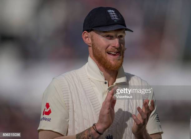 Ben Stokes of England during day three of the 1st Investec test match between England and West Indies at Edgbaston Cricket Ground on August 19 2017...