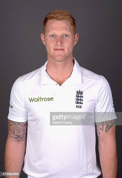 Ben Stokes of England poses for a portrait at Lord's Cricket Ground on May 19 2015 in London England