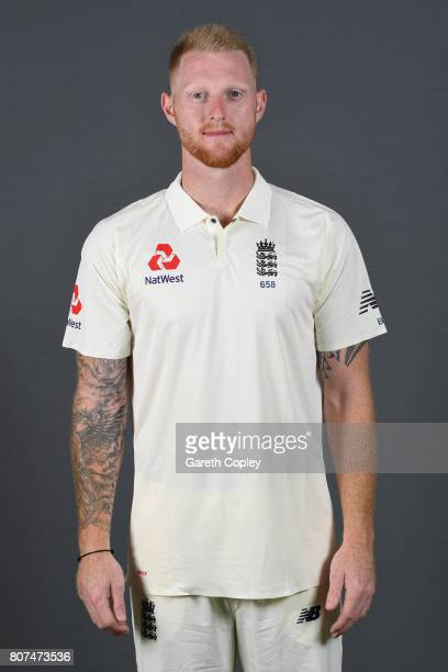 Ben Stokes of England poses for a portrait at Lord's Cricket Ground on July 4 2017 in London England