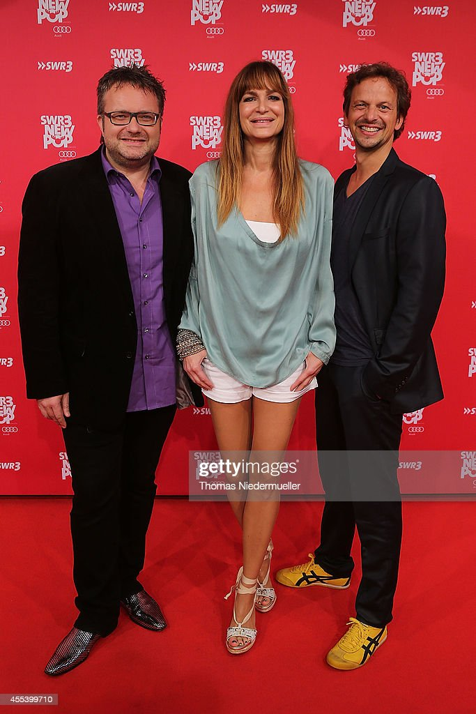 Ben Streubel Alexandra Kamp and Ronald Spie§ attends the red carpet prior to the SWR3 New Pop Festival 'Das Special' at Festspielhaus on September 13...