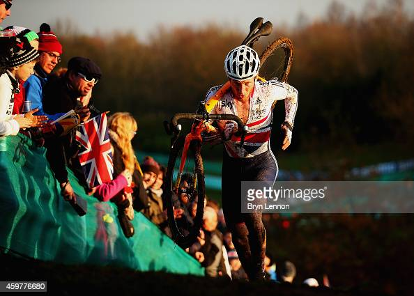 Ben Sumner of Great Britain in action during the Elite Men's race at the UCI Cyclocross World Cup in Campbell Park on November 29 2014 in Milton...