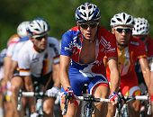 Ben Swift of Great Brtiain rides in the peloton during the Men's Road Race at the 2009 UCI Road World Championships on September 27 2009 in Mendrisio...