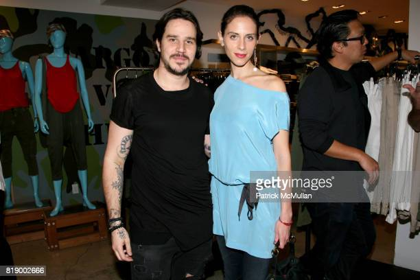 Ben Taverniti and Dalia Oberlander attend 'Denim before Dark' a celebration of the launch of HUDSON COLLECTION at Barney's on May 1 2010 in New York