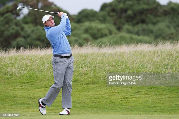 Ben Taylor of the Great Britain and Ireland team during the St Andrews Trophy Matches at Portmarnock Golf Club on August 31 2012 in Portmarnock...