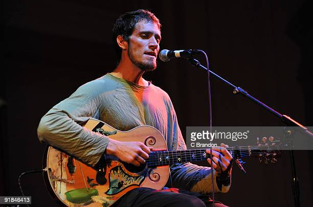 Ben Taylor performs on stage at Bush Hall on October 11 2009 in London England