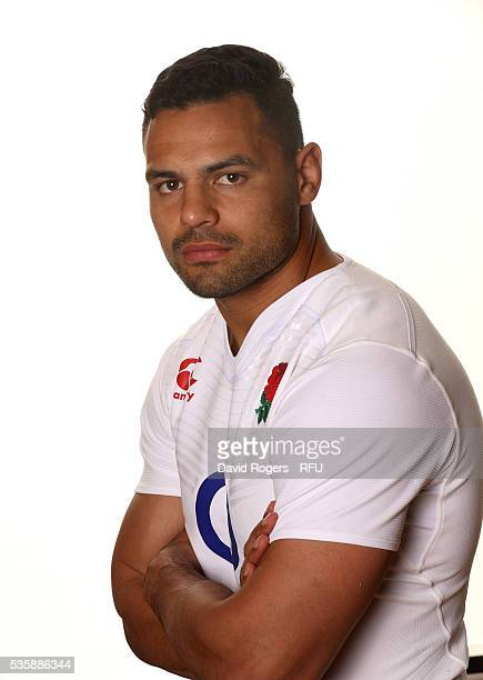 Ben Te'o poses for a portrait during the England Rugby Union squad portrait session at Pennyhill Park on May 30 2016 in Bagshot England