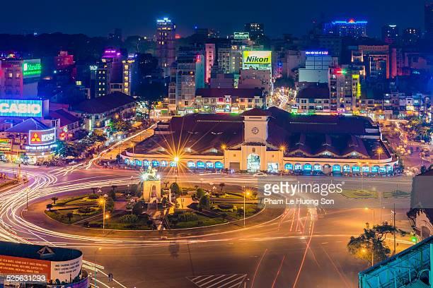 Ben Thanh Market at night.