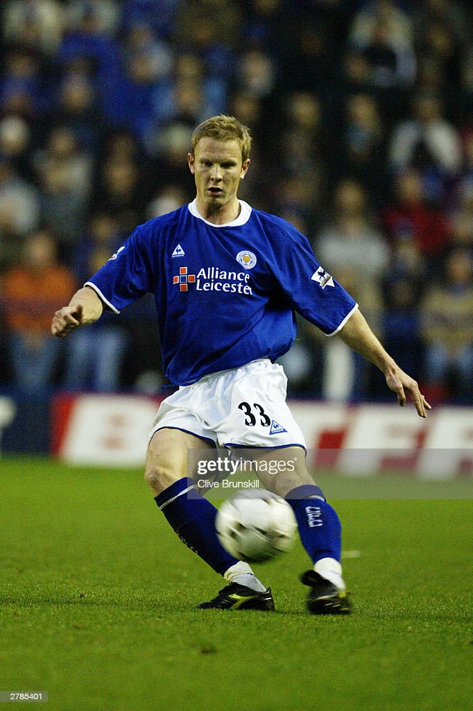 Ben Thatcher of Leicester City passes the ball during the FA Barclaycard Premiership match between Leicester City and Charlton Athletic on Novermber 22, 2003 at Walkers Stadium in Leicester, England. The match ended in a 0-0 draw.