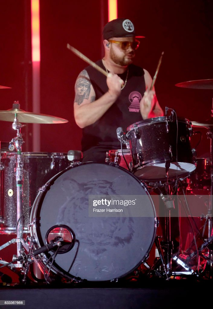 Ben Thatcher of Royal Blood perform at The Wiltern on August 16, 2017 in Los Angeles, California.