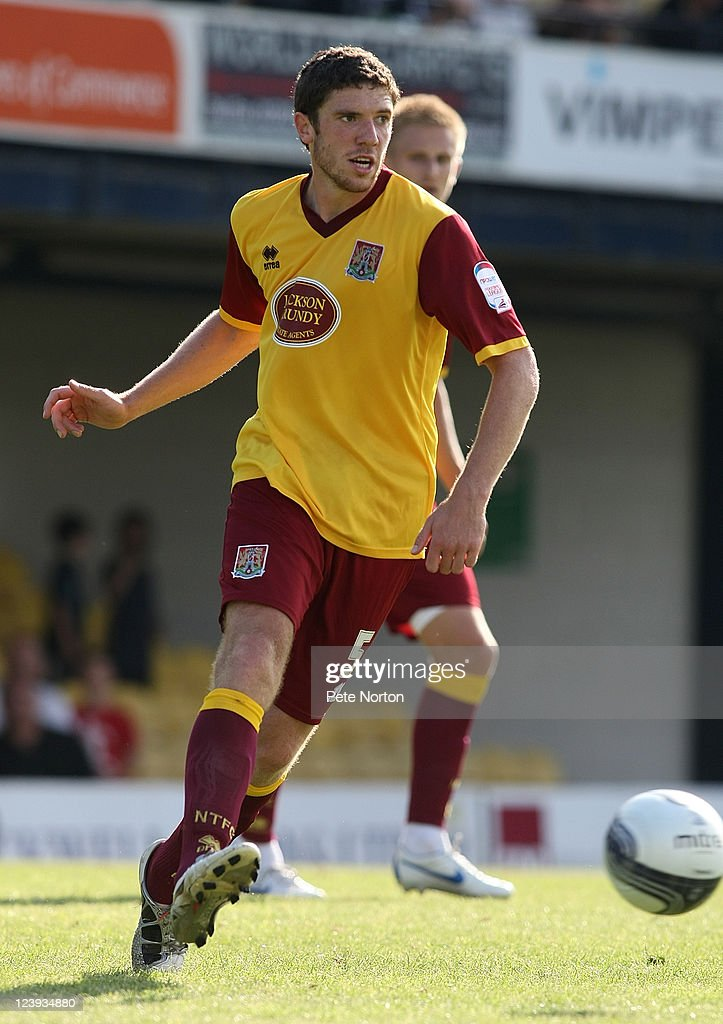 <a gi-track='captionPersonalityLinkClicked' href=/galleries/search?phrase=Ben+Tozer&family=editorial&specificpeople=4682161 ng-click='$event.stopPropagation()'>Ben Tozer</a> of Northampton Town in action during the npower League Two match between Southend United and Northampton Town at Roots Hall on September 3, 2011 in Southend, England.