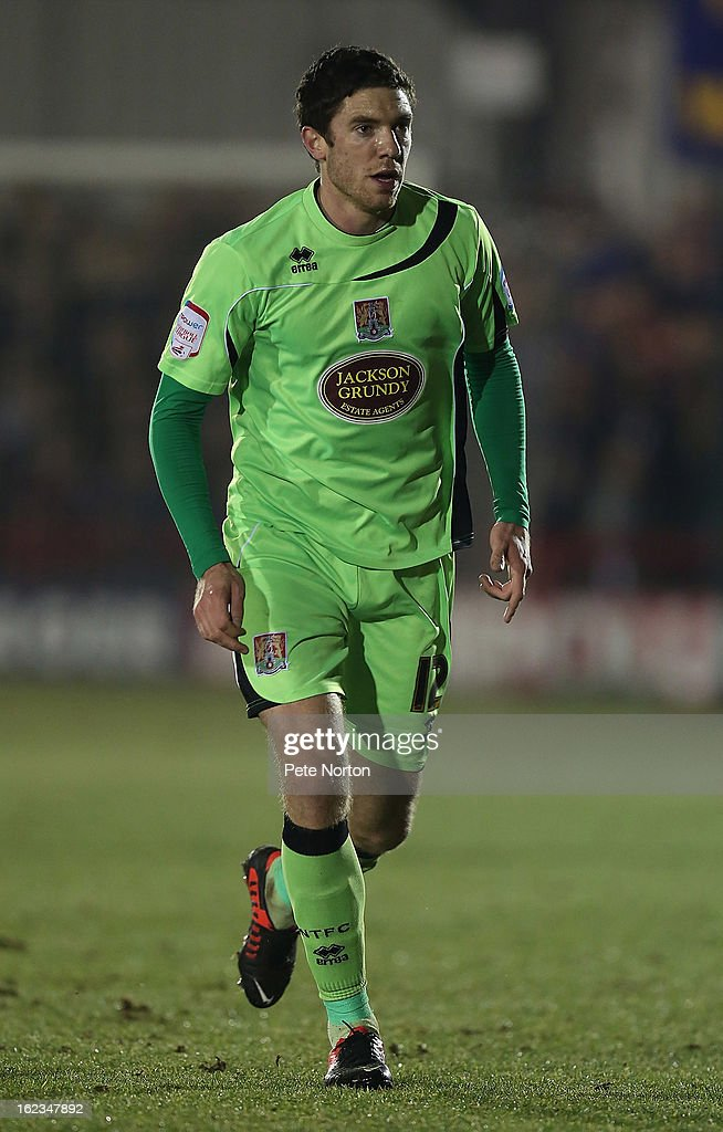 Ben Tozer of Northampton Town in action during the npower League Two match between AFC Wimbledon and Northampton Town at The Cherry Red Records Stadium on February 19, 2013 in Kingston upon Thames, England.