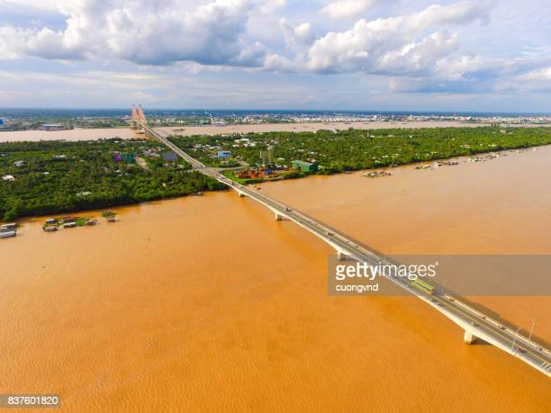 Ben Tre province from above